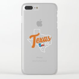 Texas March 2nd 1836 Clear iPhone Case