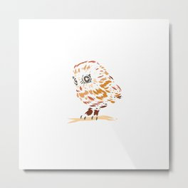 Owl Baby Cute Animal Keeper Gift Metal Print