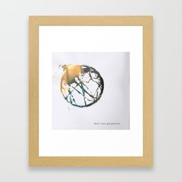 Shift your perspective Framed Art Print