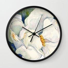 Magnolia Full Bloom Wall Clock