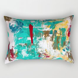 Aqua Bella by Noora Elkoussy Rectangular Pillow