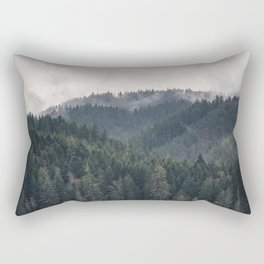 Pacific Northwest Forest - Nature Photography Rectangular Pillow
