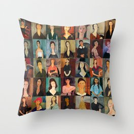 Amadeo Modigliani Montage Throw Pillow