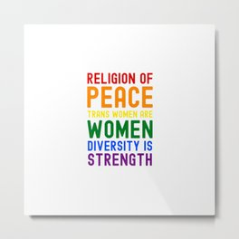 Religion of Peace Metal Print
