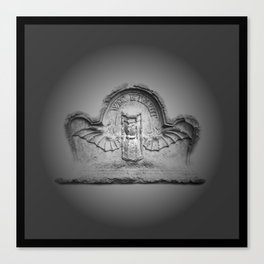 Flying hourglass Canvas Print