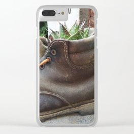 Cactus Boot #Tuscany #Photography #Italy Clear iPhone Case