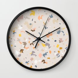 Lively Colorful Terrazzo Pattern Wall Clock