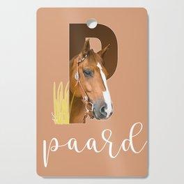 Paard - dierenalfabet Cutting Board