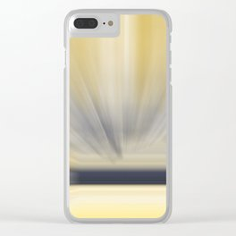 Charcoal Grey Yellow Abstract Clear iPhone Case