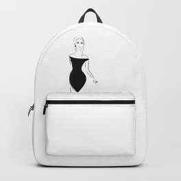 Lady in Black Backpack