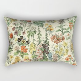 Adolphe Millot Vintage Fleurs Flower 1909 Rectangular Pillow