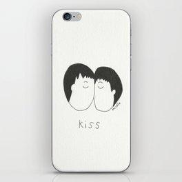 kiss iPhone Skin