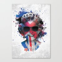 deadmau5 Canvas Prints featuring Queen Listen Music by Sitchko Igor