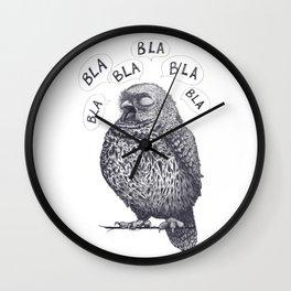 Owl bla bla bla Wall Clock