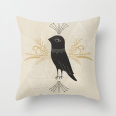 Black Bird Throw Pillow