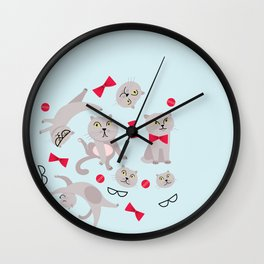 Scottish fold cat William Wall Clock