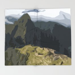 Machu Picchu Throw Blanket