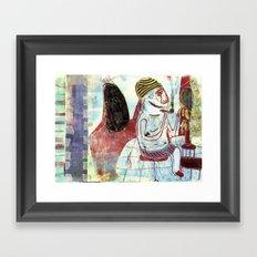 shaving Framed Art Print