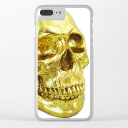 Goldish Skull Clear iPhone Case