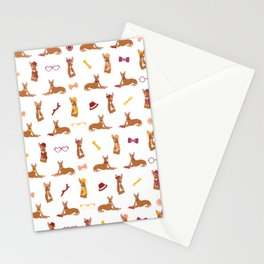 Pharaoh Hounds Pattern Red Stationery Cards