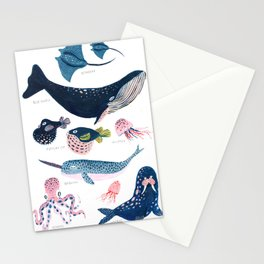 Sea Life Stationery Cards