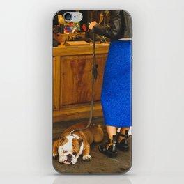 PHOTOGRAPHY - Bored dog iPhone Skin