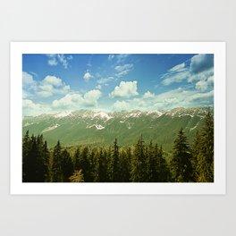 Summer mountain landscape Art Print
