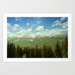 Summer mountain landscape Art Print