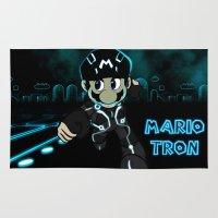 tron Area & Throw Rugs featuring Mario Tron by Rodrigo Marckezini