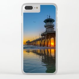 Soaring Seagull at Sunset Clear iPhone Case