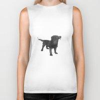 labrador Biker Tanks featuring Labrador Retriever by Carma Zoe