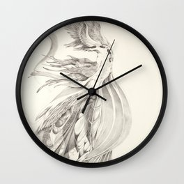 Fin and Feather Gown Wall Clock
