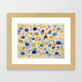 Blotted blue Framed Art Print