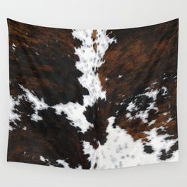Brown Cowhide, Farmhouse decor Wall Tapestry