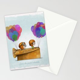 UP Pixar — Love is the greatest adventure  Stationery Cards