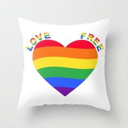 Love Free Love Throw Pillow