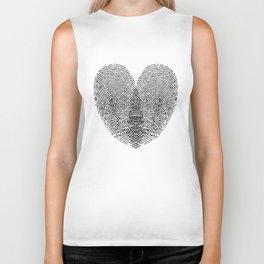 Love Fingerprint Biker Tank