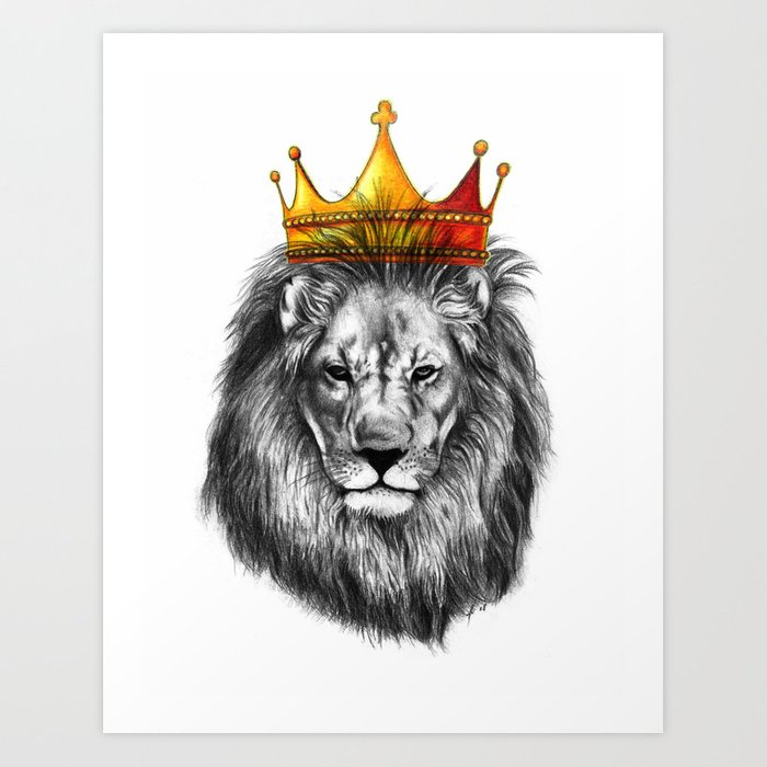 Lion King Art Print By Markashkenazi