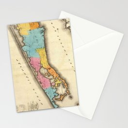 Vintage Map of Suffolk New York (1829) Stationery Cards