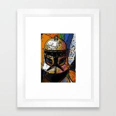 Funky Bucket Head Framed Art Print