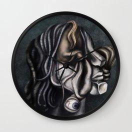 a cubistic me Wall Clock