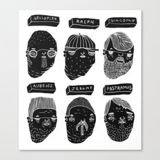 Black heads Canvas Print