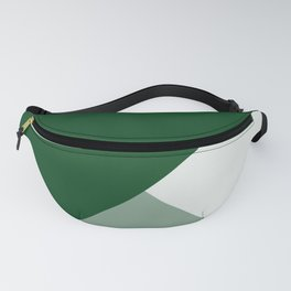 Trinity Color Block Forest Green 08441C Fanny Pack