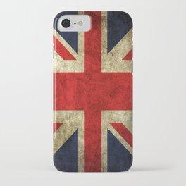 GRUNGY BRITISH UNION JACK  DESIGN ART iPhone Case
