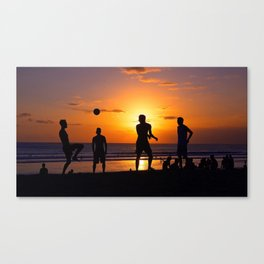 Football at Sunset. Canvas Print