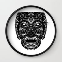 dracula Wall Clocks featuring Dracula by Jamie Bryan