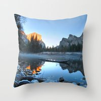 yosemite Throw Pillows featuring Yosemite by Kelly Moncure
