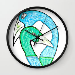 the Lovers Embrace Wall Clock