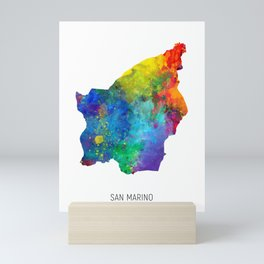 San Marino Watercolor Map Mini Art Print