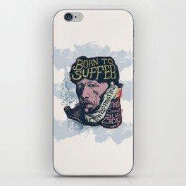 Van Gogh Typography Drawing iPhone Skin